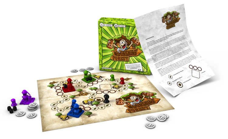 the productshot of the moonshine forest boardgame